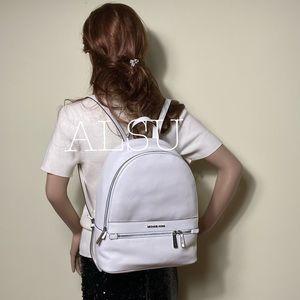 Michael Kors Kenly LG Leather Backpack Optic White